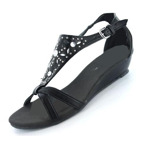 New-Womens-Gluv-Bianco-Strappy-Gladiator-Soft-Wedge-Fashion-Sandals-Size-4-8-UK