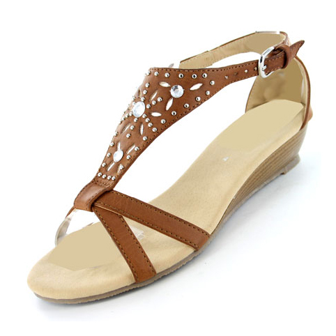 New-Womens-Gluv-Bianco-Strappy-Gladiator-Soft-Wedge-Fashion-Sandals-Size-4-8-UK