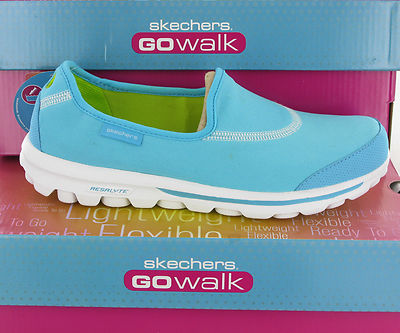 New-Womens-Skechers-Go-Walk-Comfort-Plimsolls-Shoes-Trainers-Pumps-Size-3-8-UK