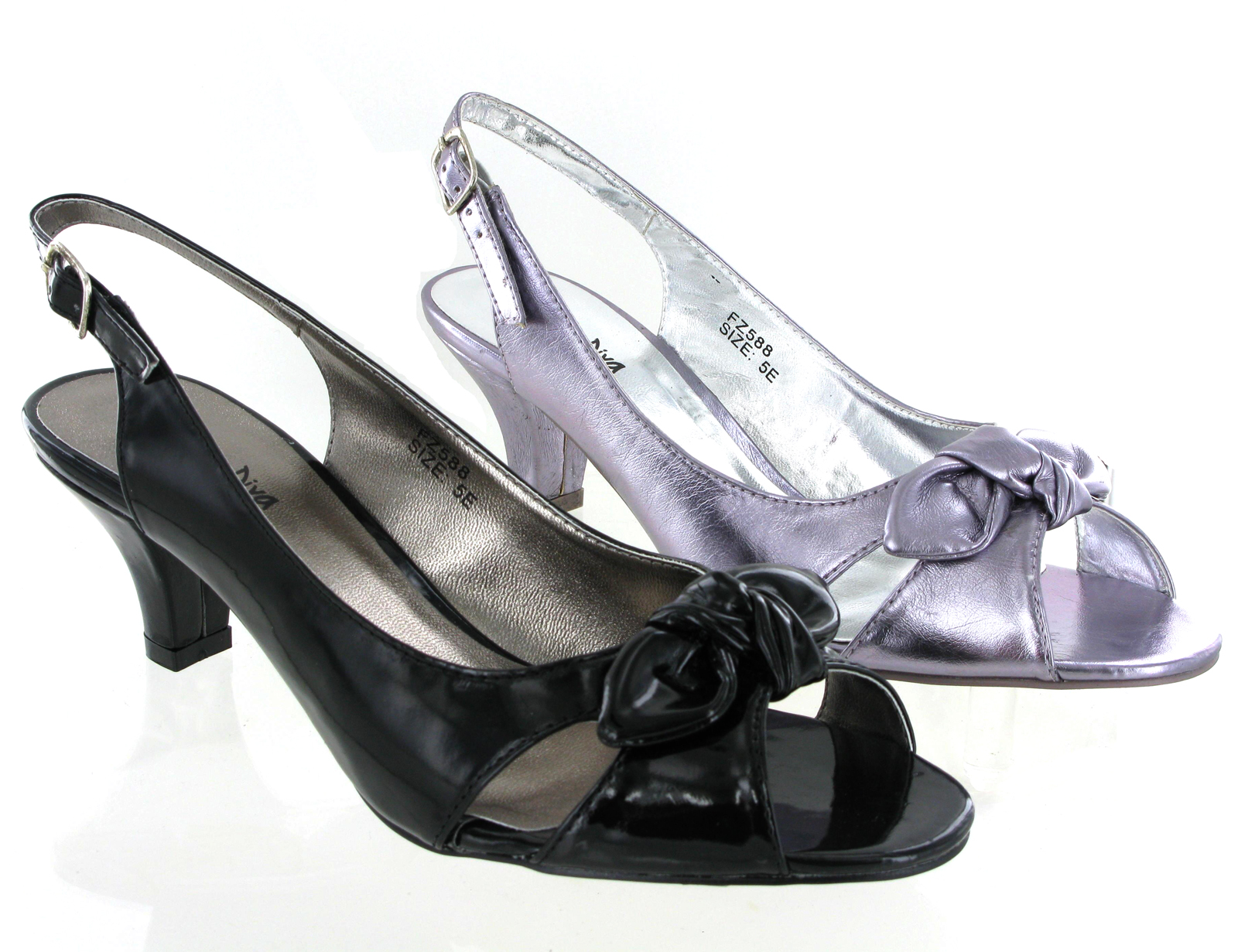 Kitten Heel Slingback Sandals