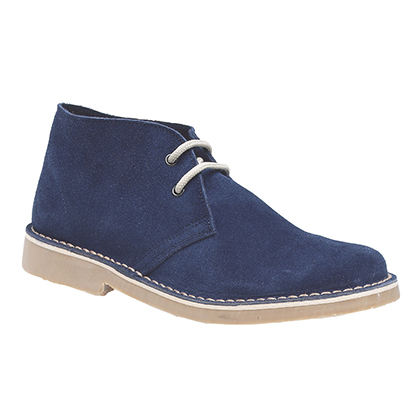 new mens navy blue suede leather desert boots size 4 12 ebay