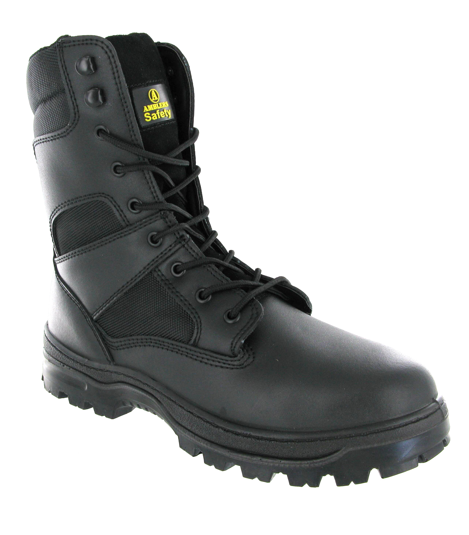 Mens Amblers Army Police Tactical Leather Combat Safety Toe Cap Boots Size 4-14 | EBay