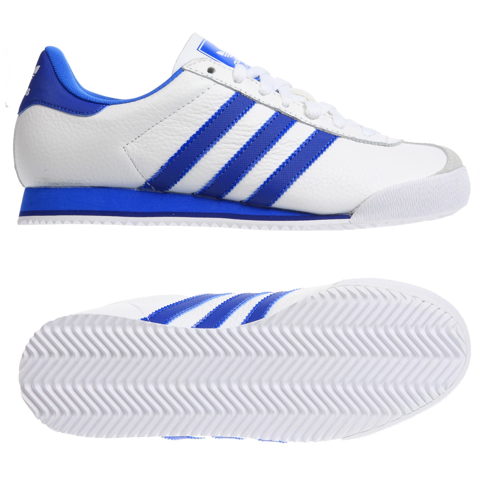 New-Mens-Adidas-Kick-Originals-White-Leather-Sports-Classic-Trainers-Size-7-12