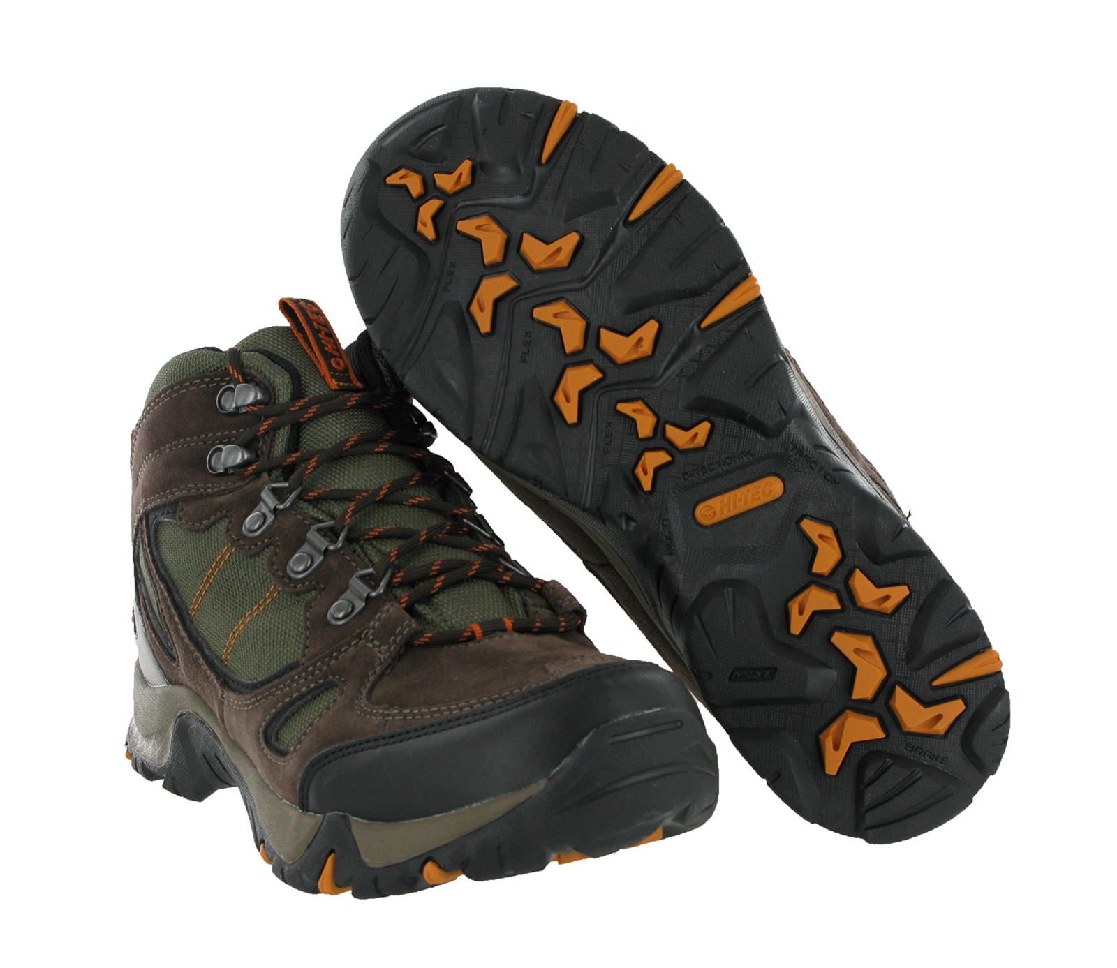 Mens Hi-tec Falcon Brown Leather Waterproof Walking Hiking Boots ...