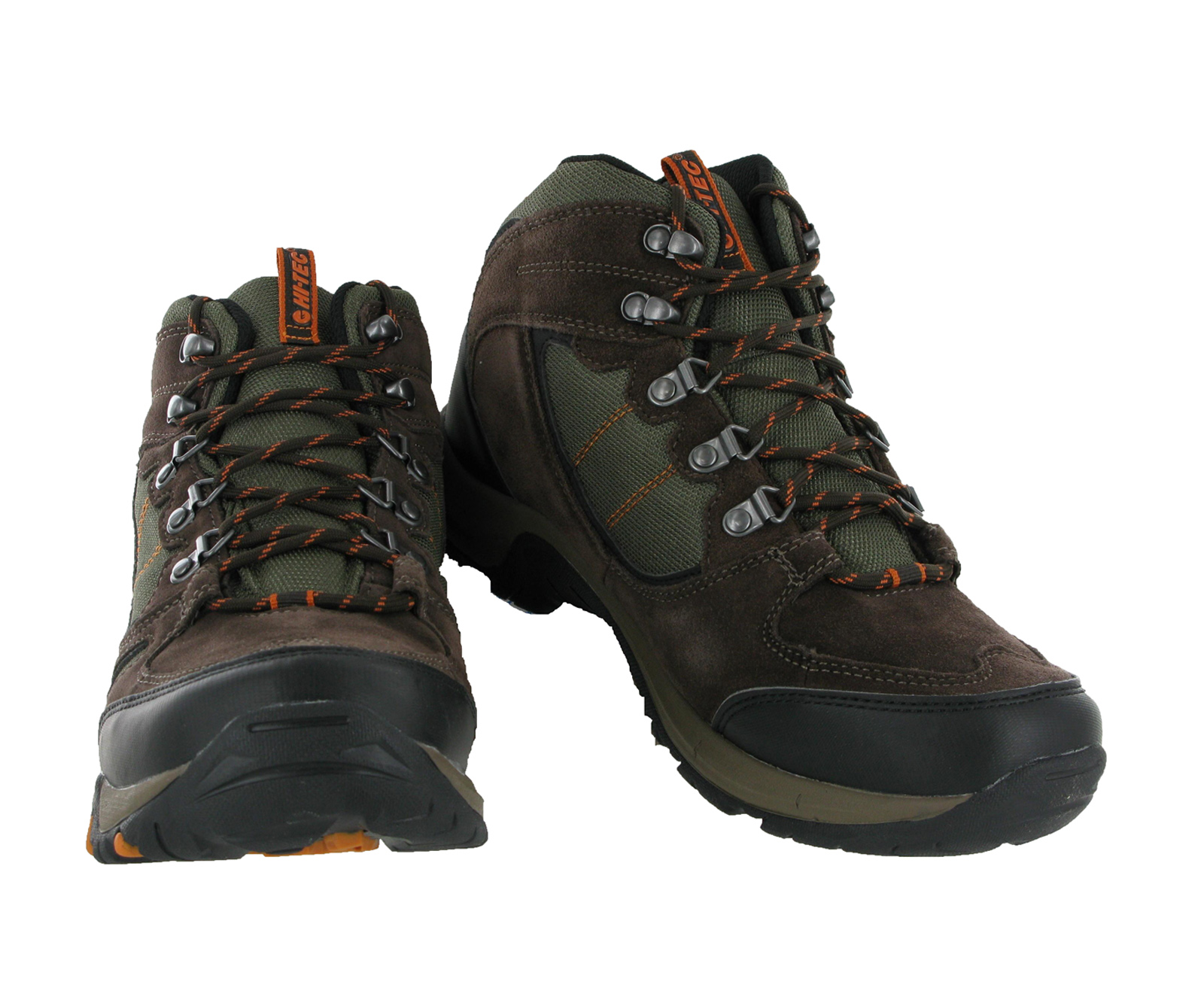 Mens-Hi-tec-Falcon-Brown-Leather-Waterproof-Walking-Hiking-Boots-Size-7-16