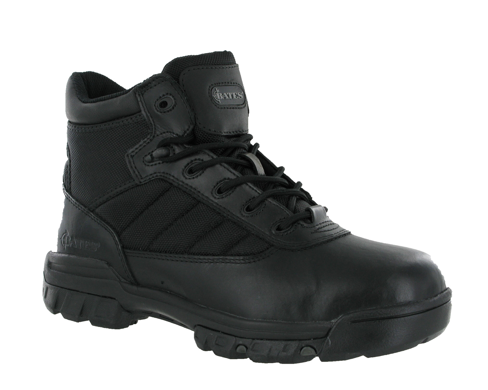 New-Mens-Bates-5-Tactical-Military-Sport-Black-Leather-Ankle-Boots-Size-3-14-UK