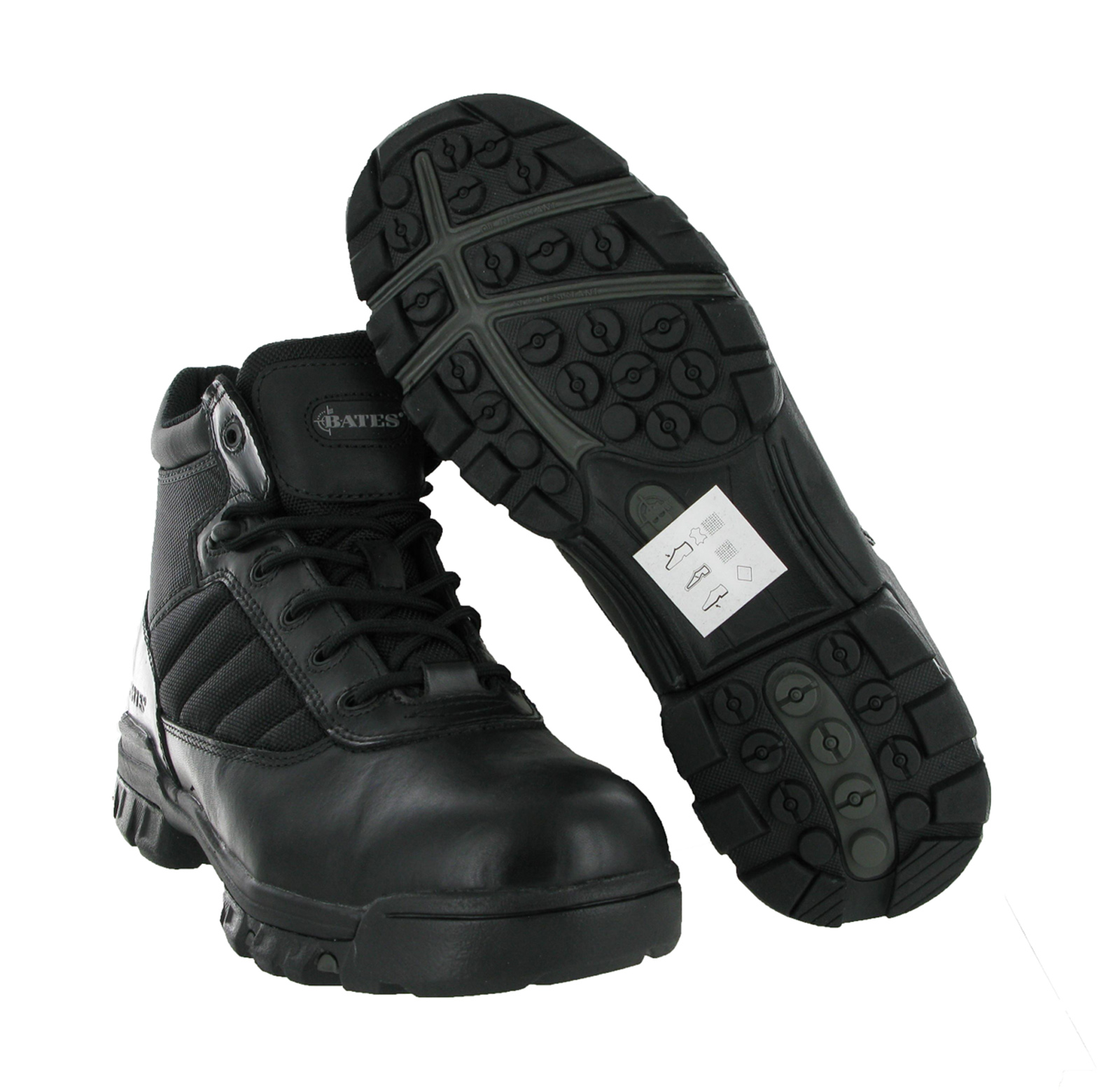New-Mens-Bates-5-Tactical-Military-Sport-Black-Leather-Ankle-Boots-Size-3-14