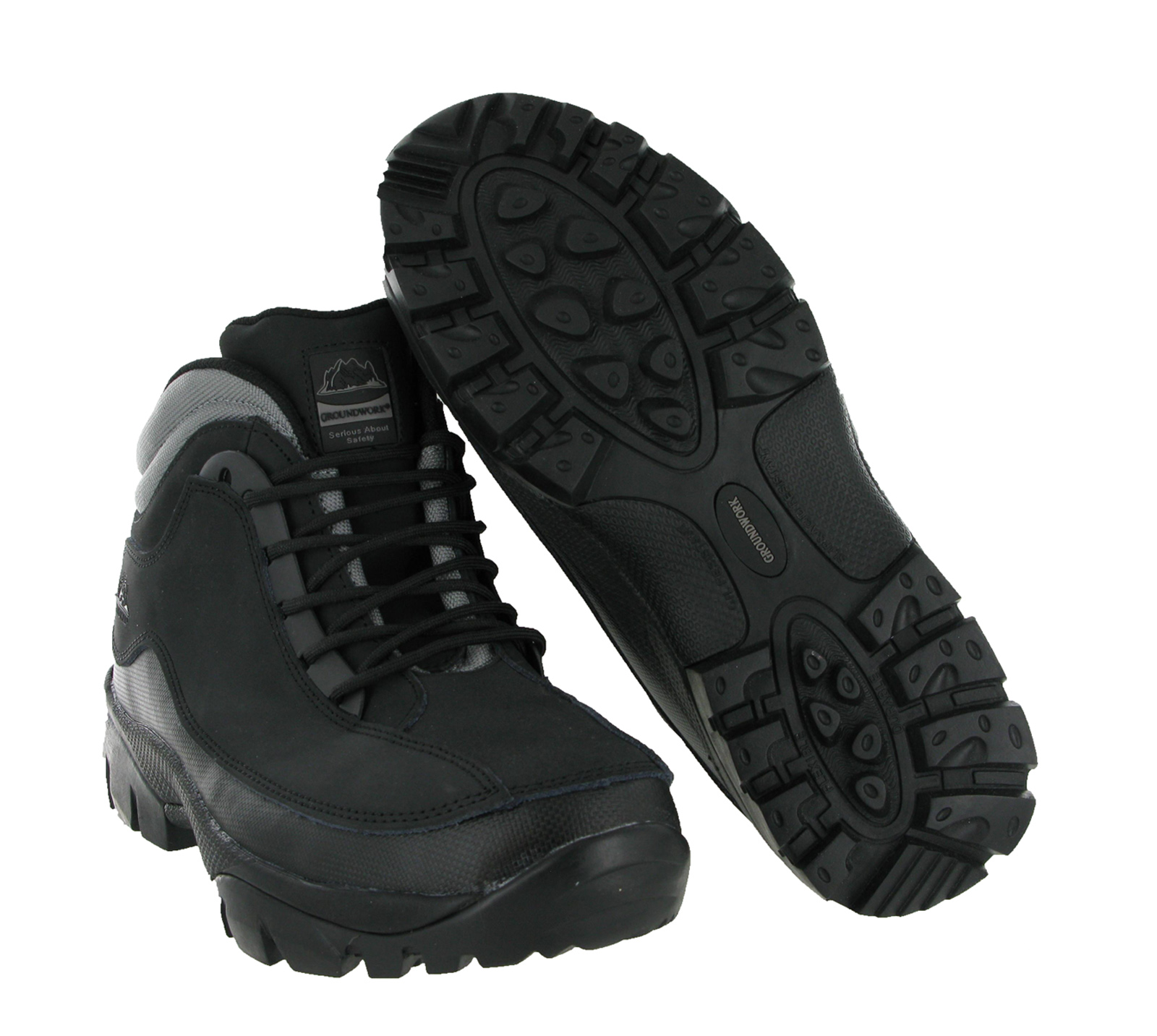 Groundwork Lightweight Mens Steel Toe Cap Safety Work Ankle Boots UK7-12