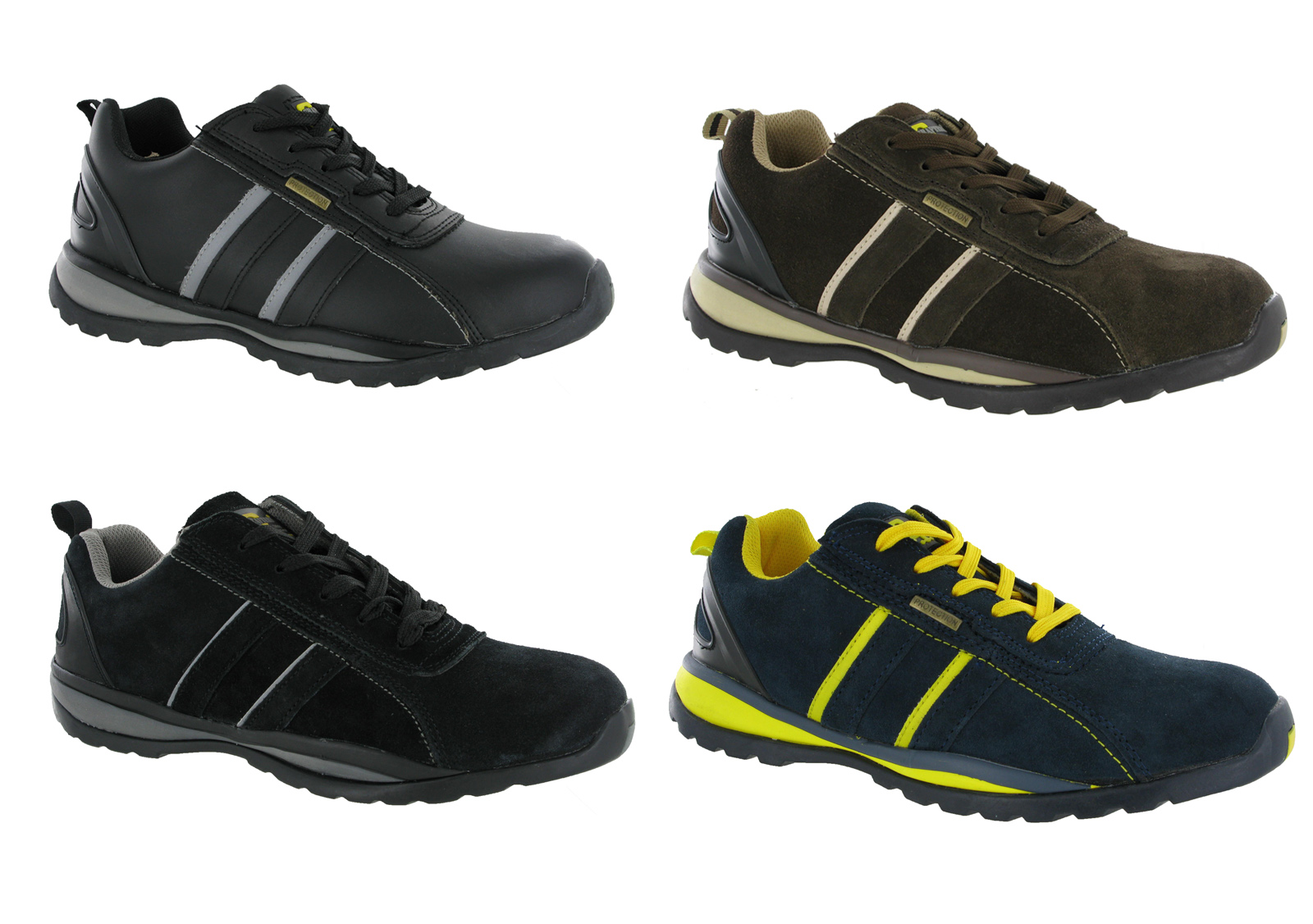 Grafters Lightweight Steel Toe Cap Safety Trainers Mens Work Shoes ...