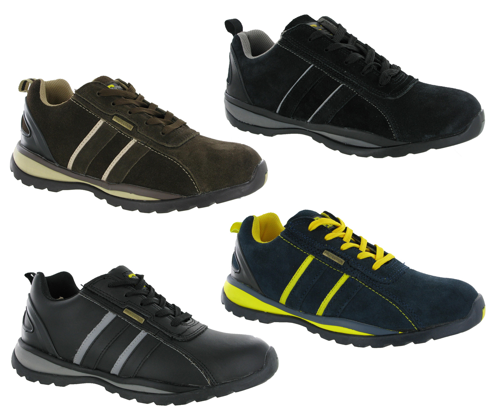 grafters lightweight steel toe cap safety trainers mens. Black Bedroom Furniture Sets. Home Design Ideas