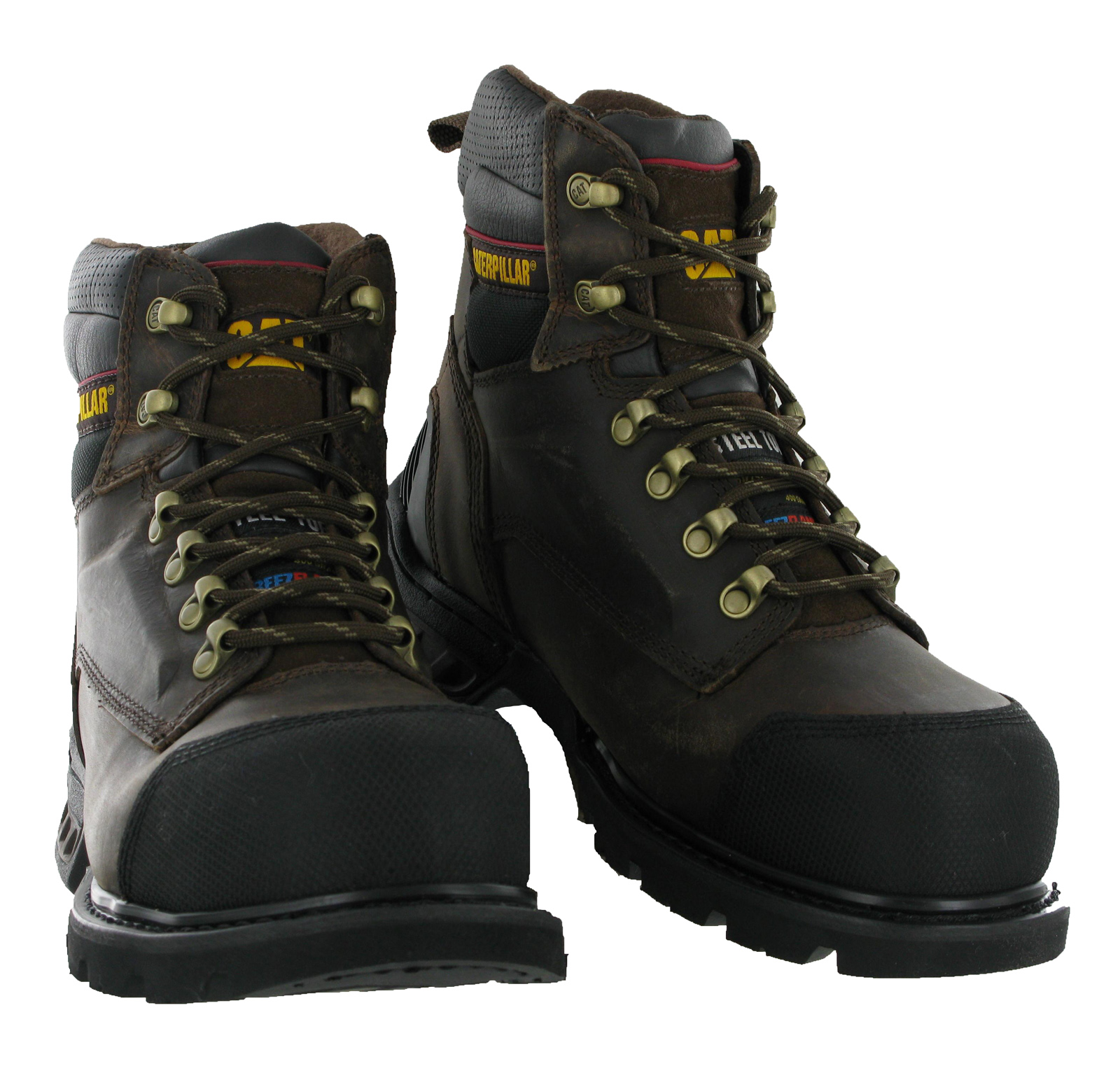 mens cat caterpillar spartan ff s3 oak steel toe cap safety work boots size 6 12 ebay. Black Bedroom Furniture Sets. Home Design Ideas