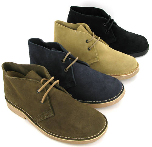 Desert Boots Roamers Real Suede Leather 2 Eye Lace Mens Boys UK4 ...