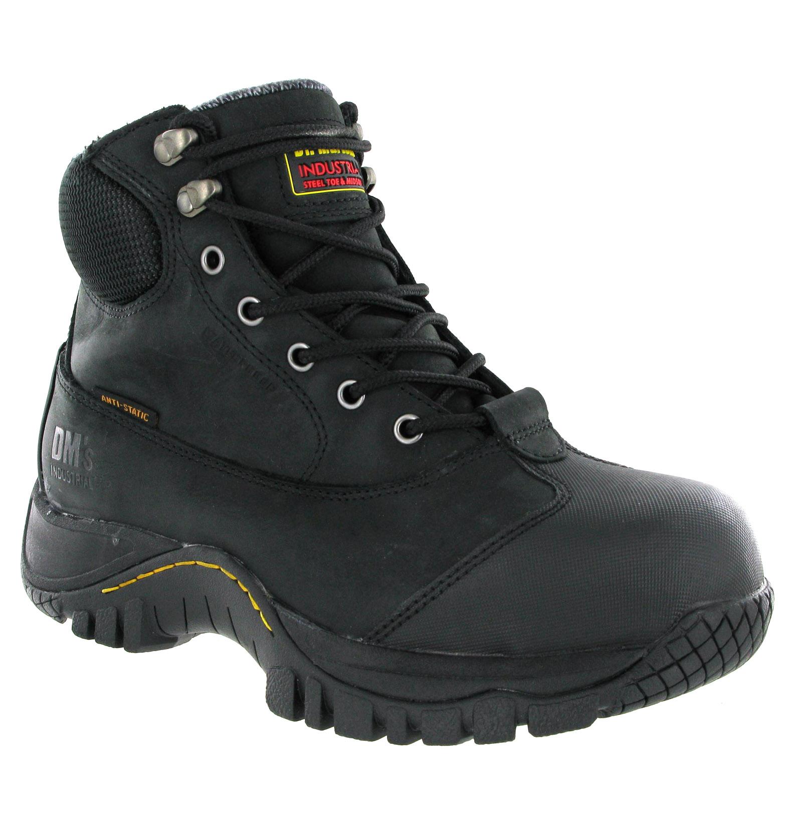 mens dr martens heath black waterproof s3 steel toe cap