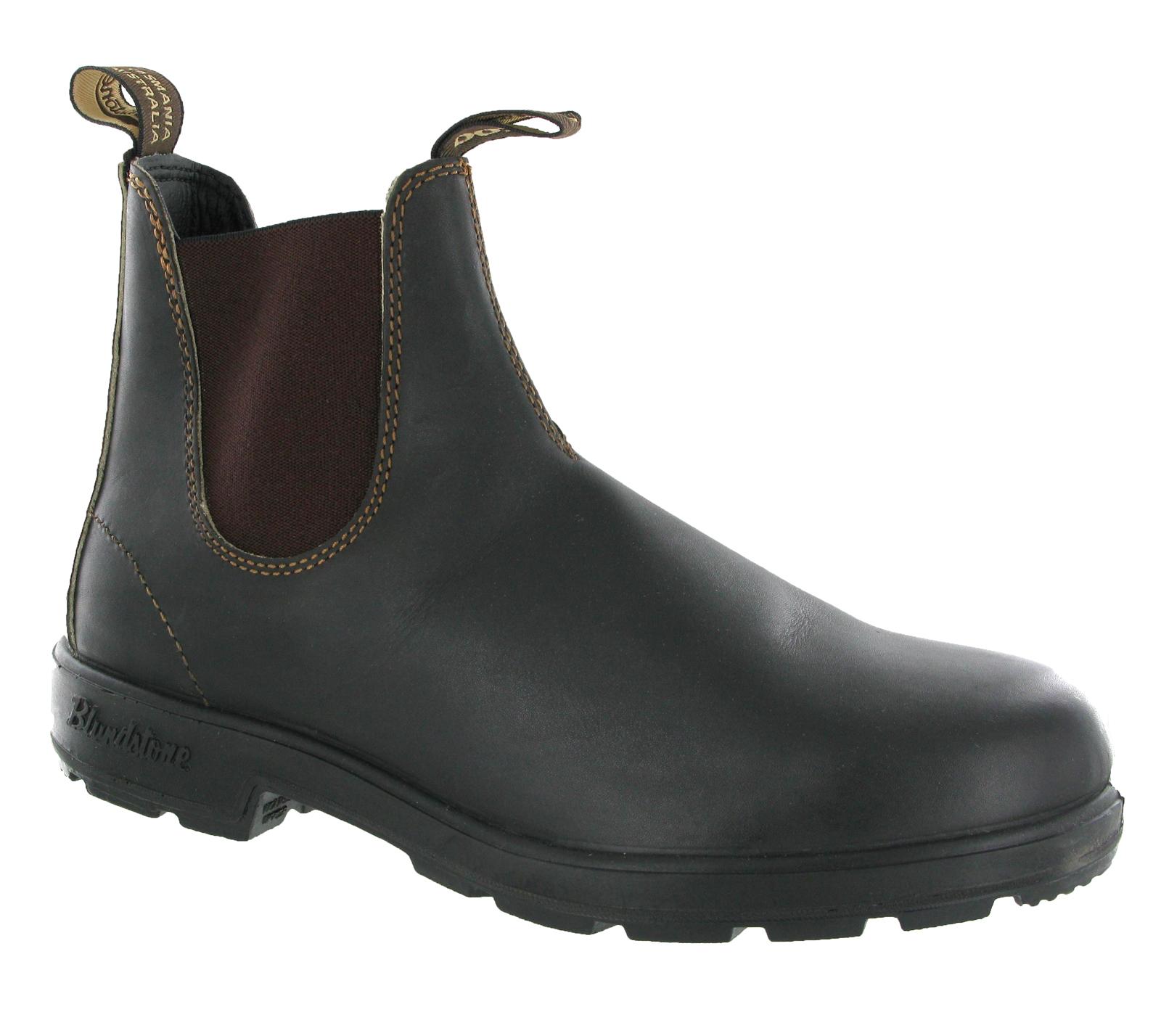 Mens Blundstone 500 Stout Brown Premium Leather Chelsea