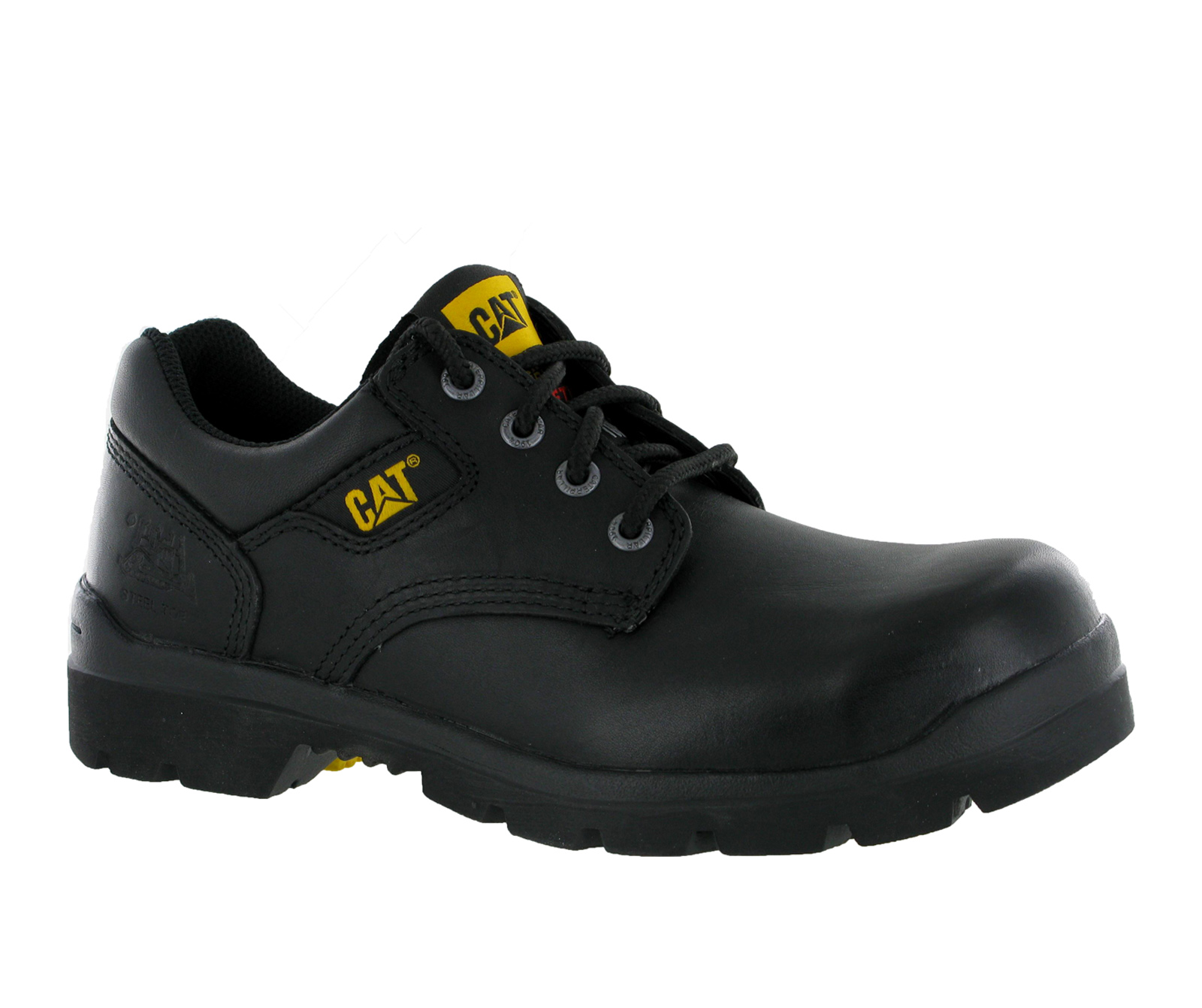 new mens caterpillar rig black steel toe cap safety formal
