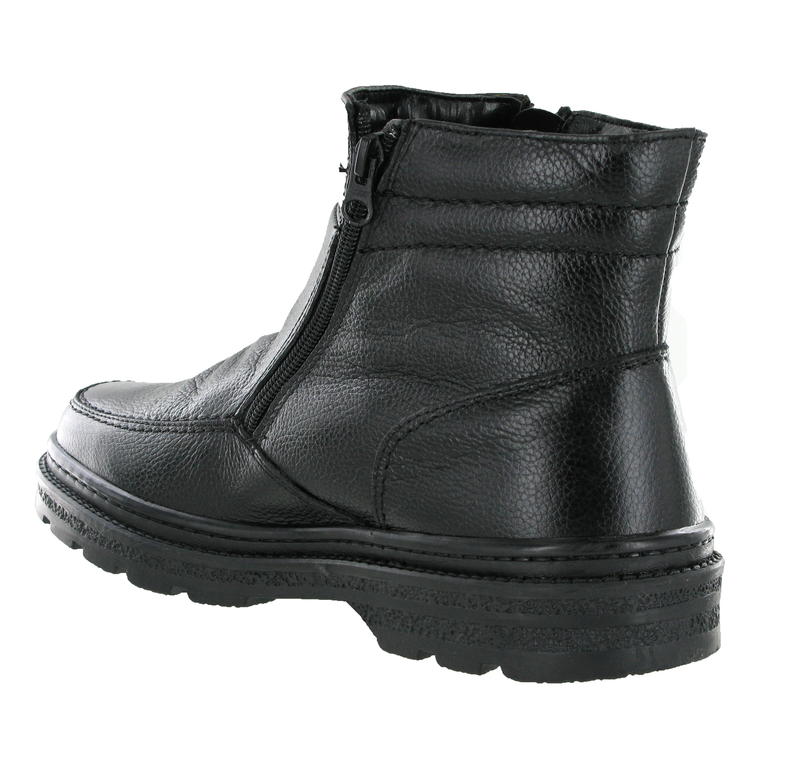 perfecta leather gusset boots mens zip fur lined