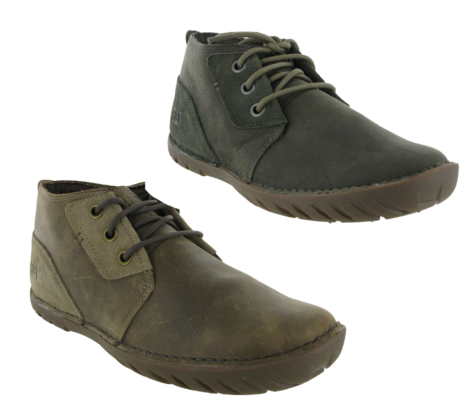 new mens caterpillar leroy mid leather casual ankle chukka