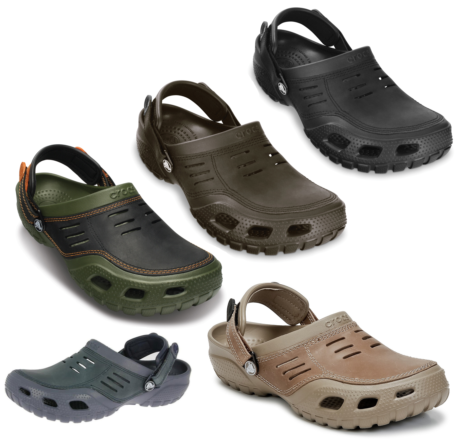 crocs sandals mens walking yukon clogs sports genuine comfort shoes