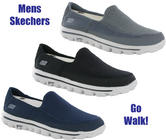 New Mens Skechers Go Walk 2 Comfort Plimsolls Shoes Trainers Pumps Size 7-12 UK