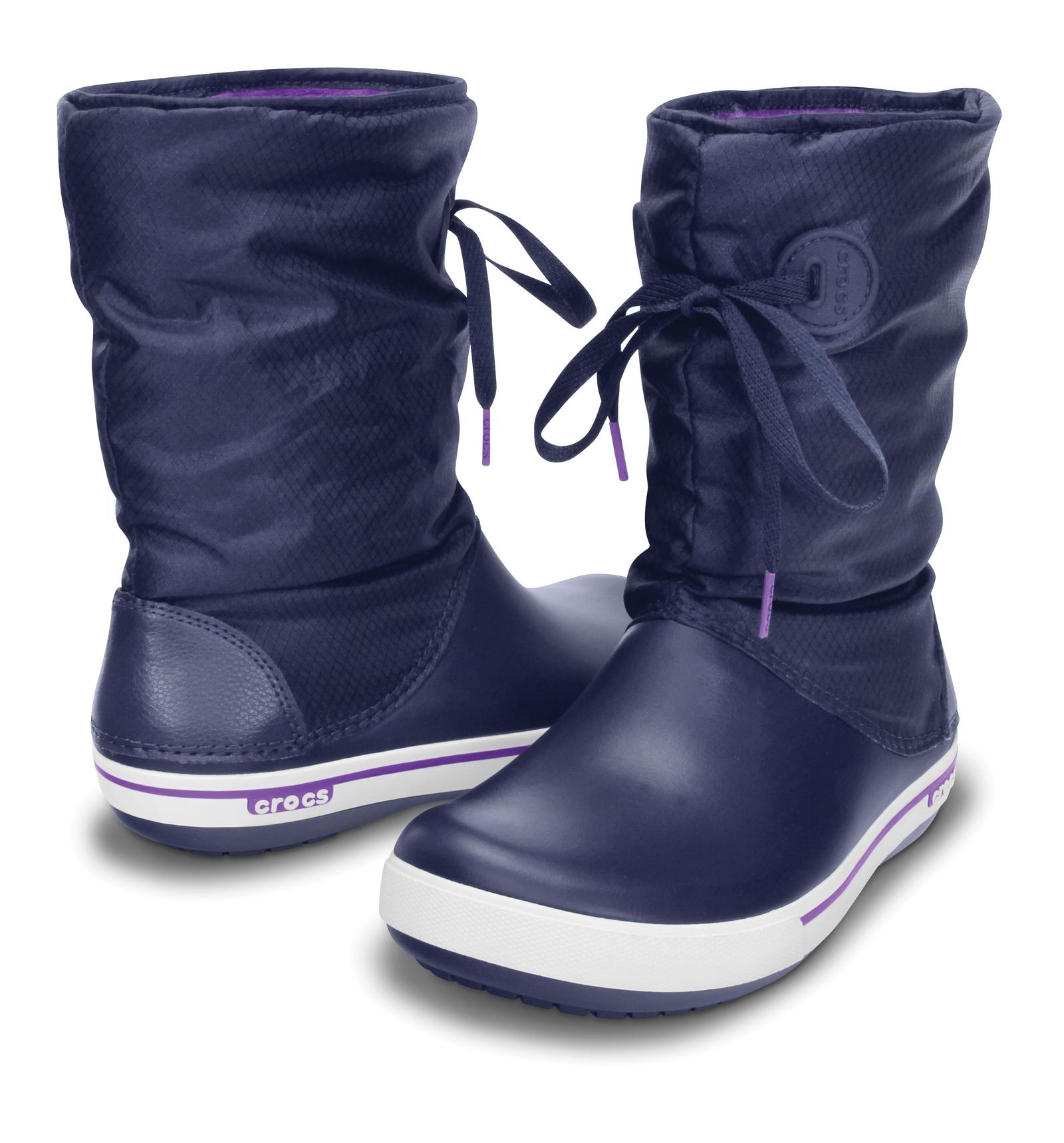 womens crocs crocband ii lace warm lined winter snow soft