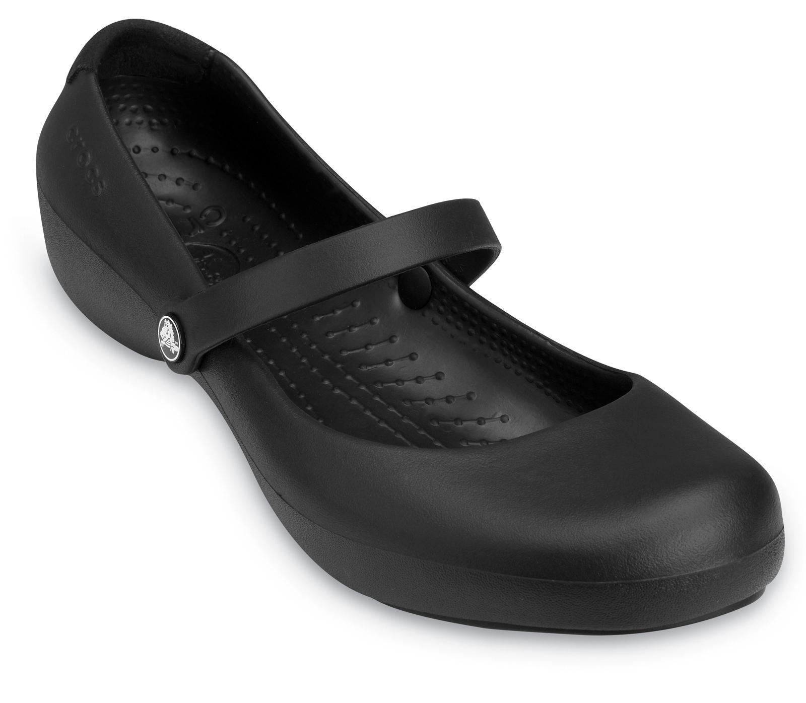 Crocs Alice Black Work Clogs Flat Mary Jane Womens Shoes ... - photo#41