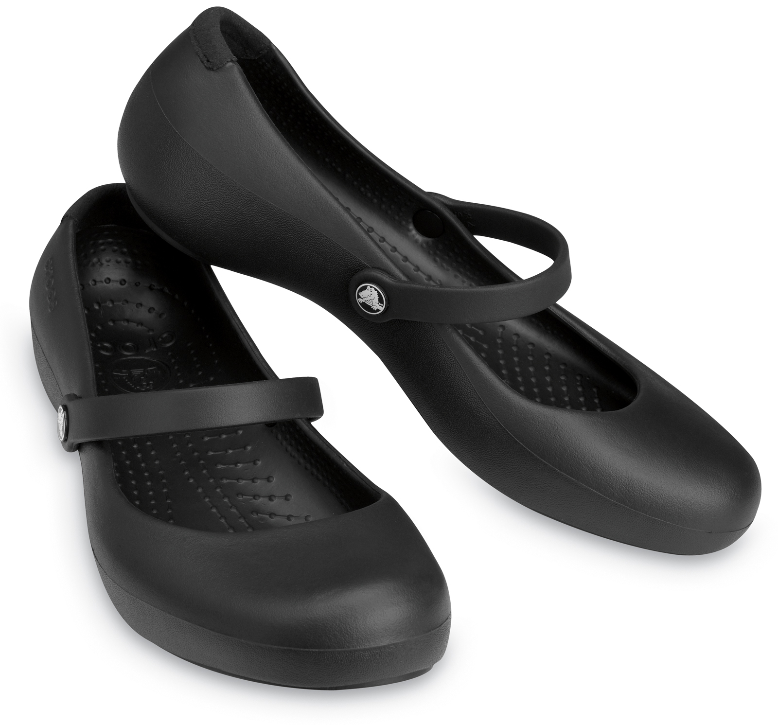 Crocs Alice Black Work Clogs Flat Mary Jane Womens Shoes ...