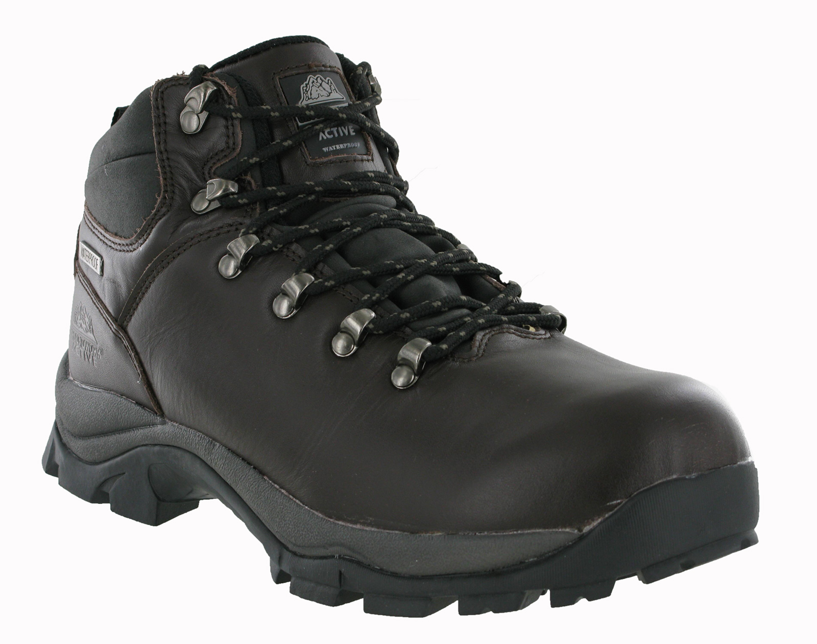 new mens waterproof grain leather trail walking