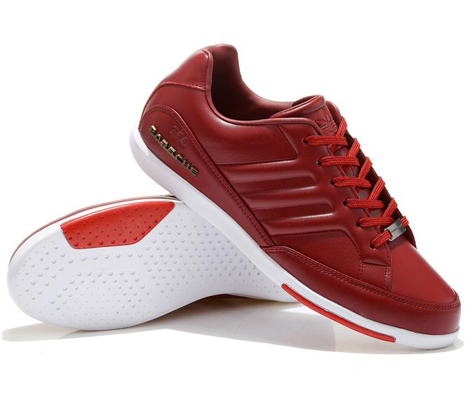 New Mens Adidas Porsche 365 Smooth Red Leather Shoes