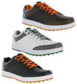 Hi-Tec HT Combi Mens Leather Spikeless Water Resistant Golf Trainers Shoes