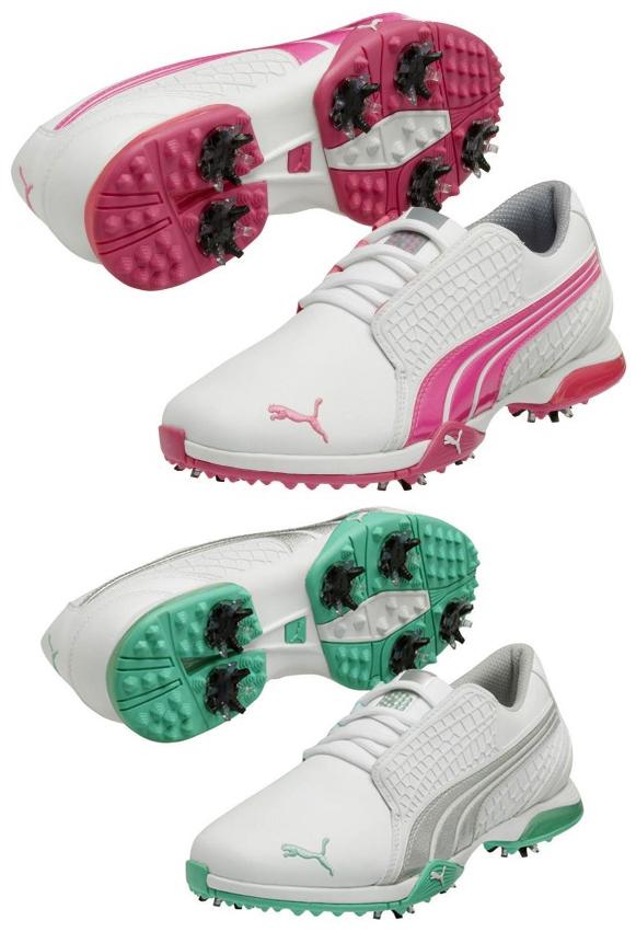 PUMA biofusion Blanc Leger Cuir Impermeable Chaussures De Golf Pointes