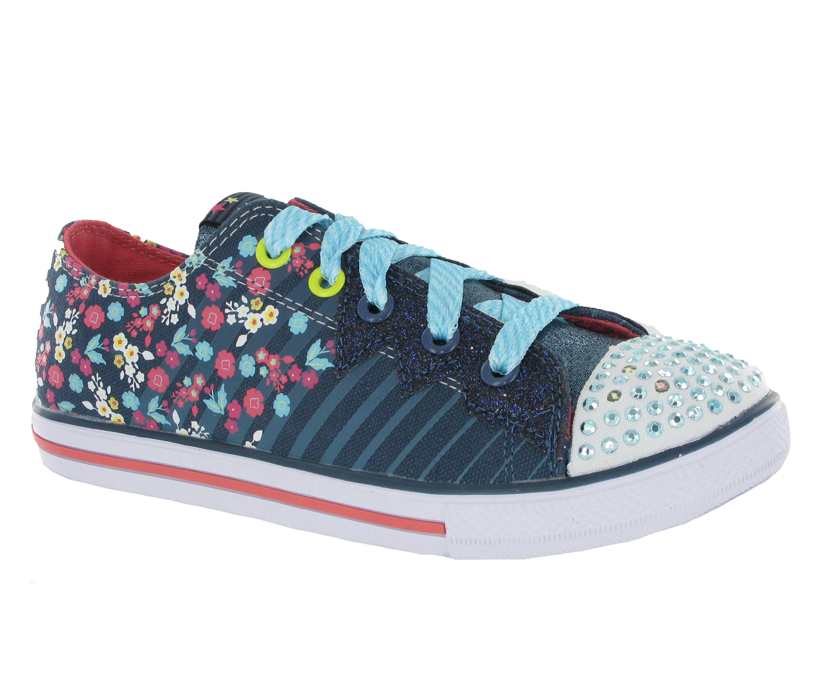 new girls kids skechers memory foam twinkle toes light up. Black Bedroom Furniture Sets. Home Design Ideas