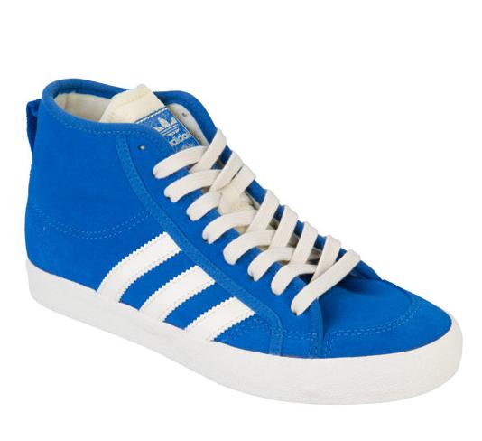 New Womens Adidas Originals Honey Mid Blue Canvas Pumps Baseball Boots Trainers