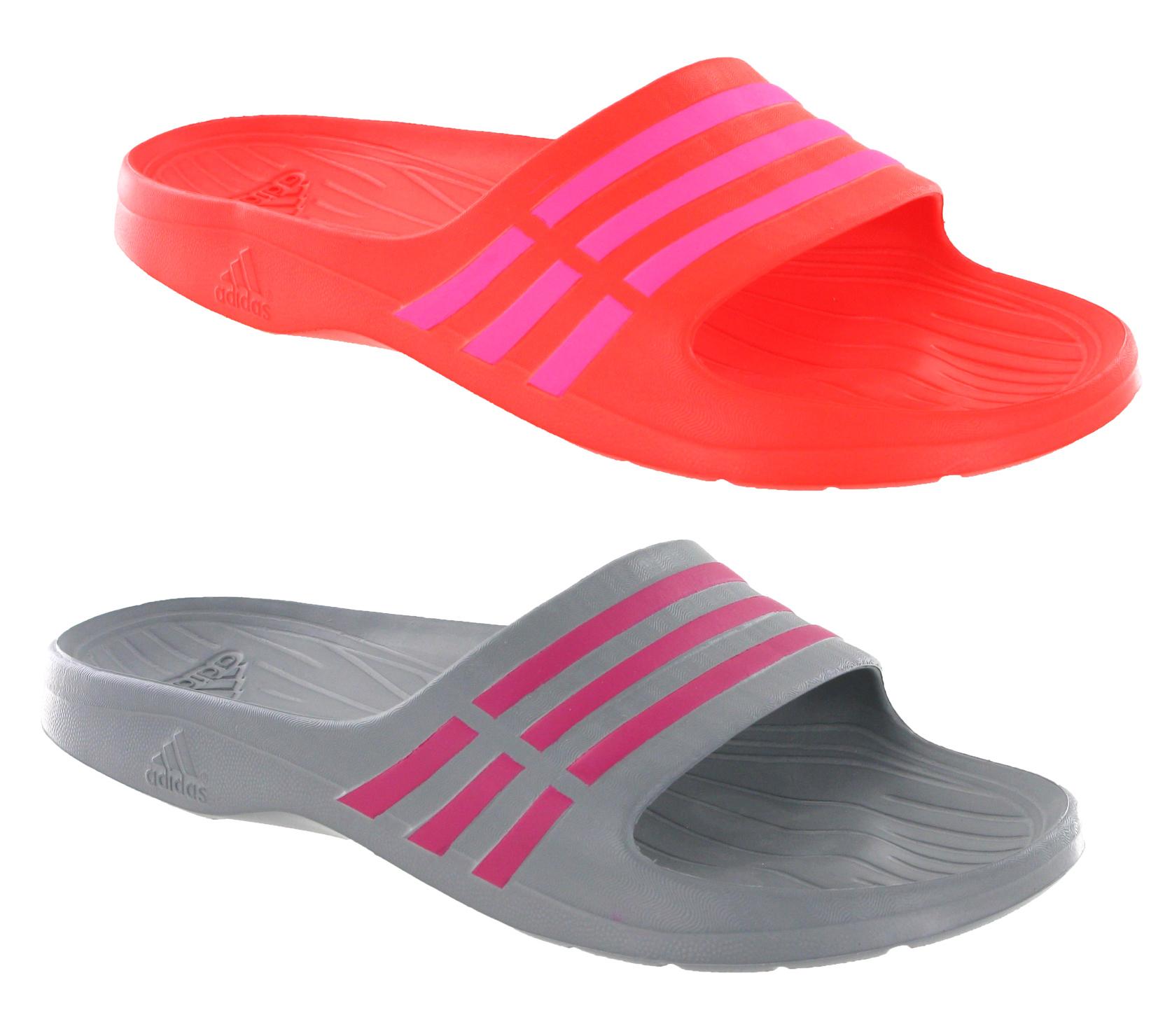 2d041fb0454 Image is loading New-Womens-Adidas-Duramo-Sleek-Slide-Flip-Flops-