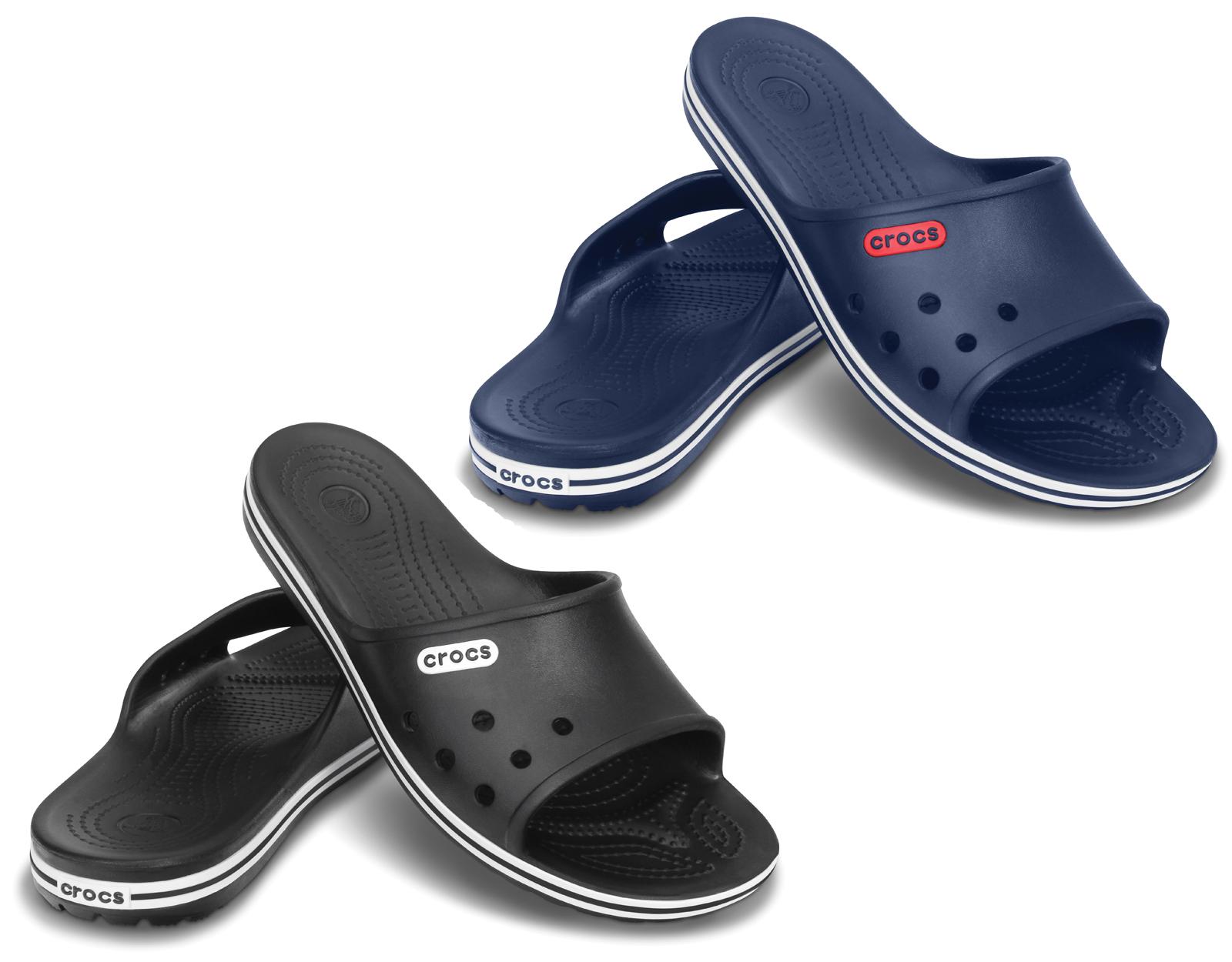 new crocs unisex crocband lopro slide flip flops lightweight comfort sandals ebay. Black Bedroom Furniture Sets. Home Design Ideas