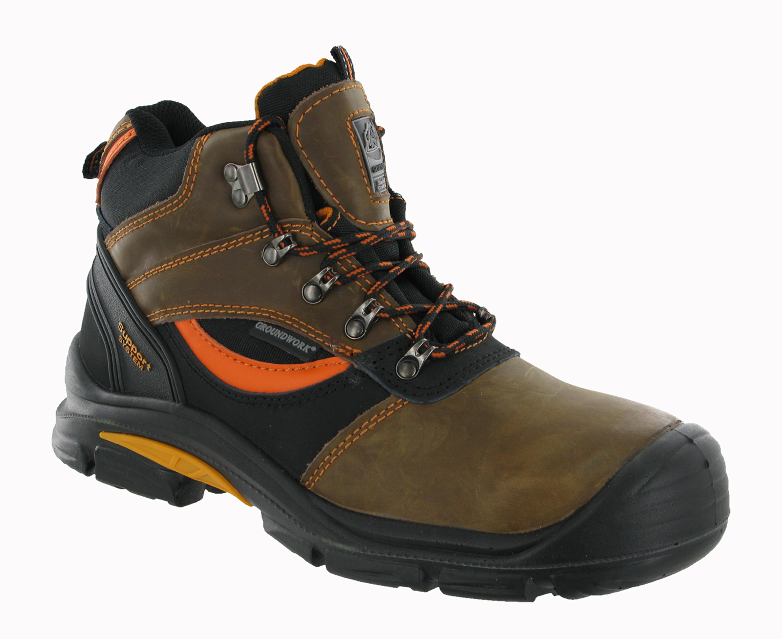 groundwork leather composite steel toe cap safety mens
