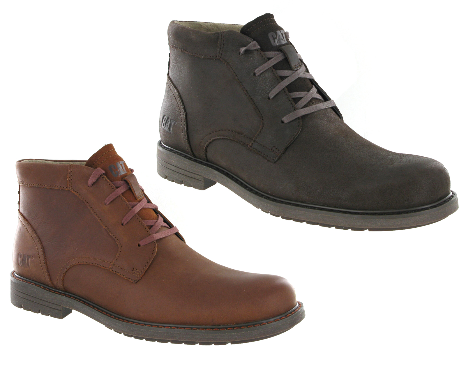 caterpillar cat brock smart leather lace up mens ankle