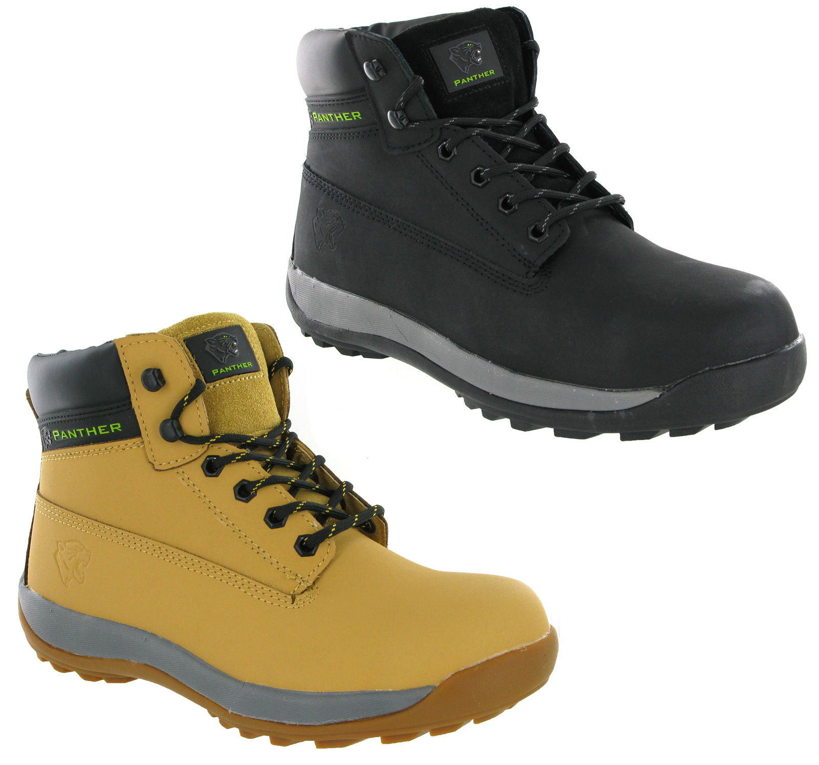 mens black honey parweld panther steel toe cap safety slip