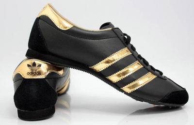 adidas sneakers black and gold