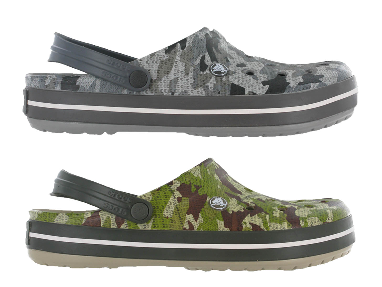 Crocs Crocband Camo Clog Unisex Slip On Comfort