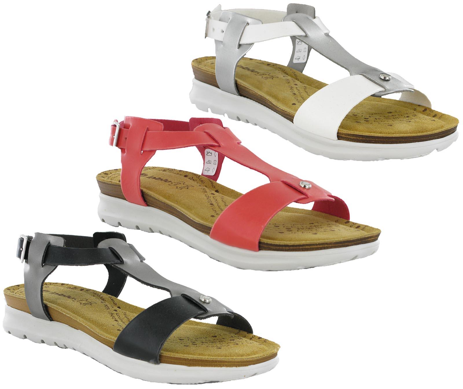 Sandals shoes summer - Womens Inblu Leather Insock Open Toe Comfort Buckle Summer Sandals Shoes Uk 3 8