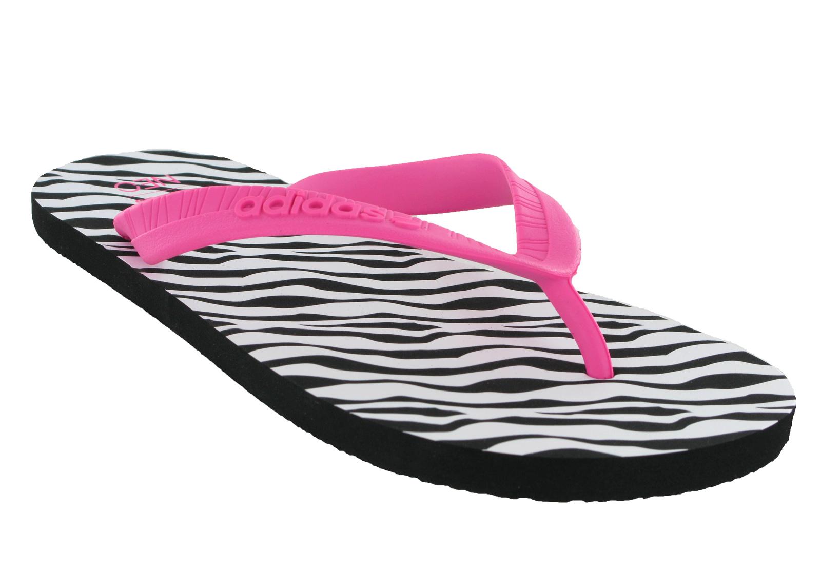 adidas flipper womens flip flop thong sandals toepost pool summer beach holiday ebay. Black Bedroom Furniture Sets. Home Design Ideas