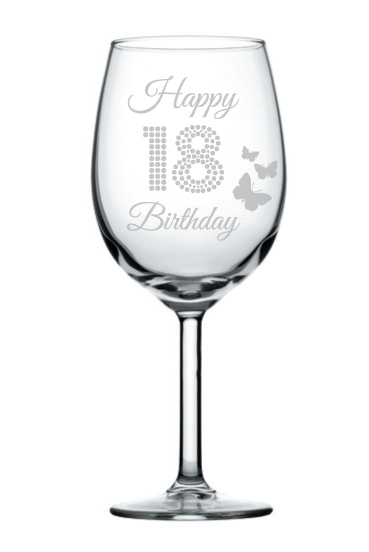 happy 18th birthday huge wine glass ebay. Black Bedroom Furniture Sets. Home Design Ideas