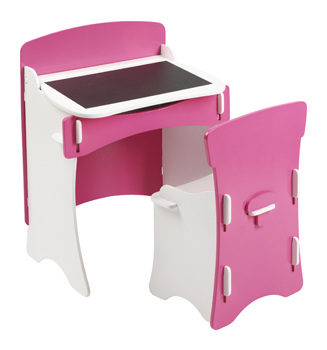 Blush Kids Desk And Chair Set Bright Pink And White Girls Bedroom