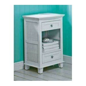 Chloe bathroom cabinet white floor standing 2 drawer for Floor standing bathroom cupboard