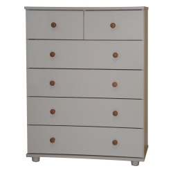 Chest of Drawers White 4 + 2 Drawer Cambridge Bedroom Furniture *Brand New*