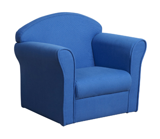 Kids Chair Blue Seat Upholstered Armchair Kidsaw Childrens ...