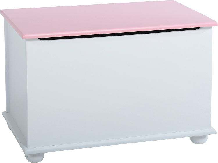 ottoman storage chest white pink toy chest or bedding box. Black Bedroom Furniture Sets. Home Design Ideas