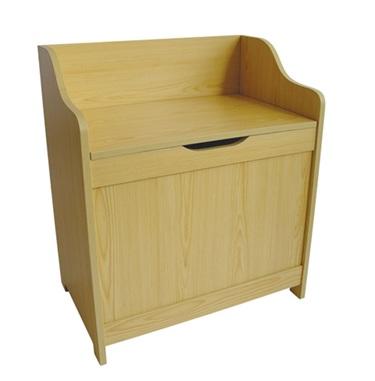 about pine laundry box storage unit ottoman with seat lid assembled