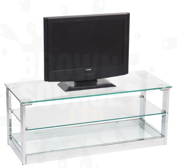 glass tv stand entertainment unit 3 shelf television unit. Black Bedroom Furniture Sets. Home Design Ideas