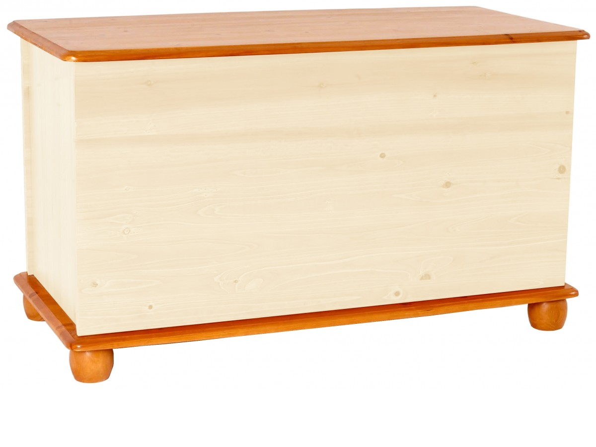 Ottoman Storage Chest Toy Chest Bedding Box Solid Pine Two Tone